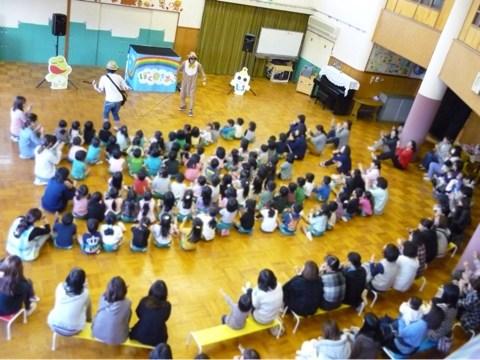幼稚園で出張イベント!京都府京田辺市あそびうたコンサート
